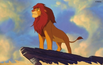 Simba on Pride Rock.