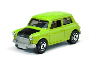 Matchbox Austin Mini Cooper in lime green (1964 model).
