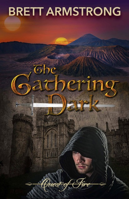 Cover art for Quest of Fire: The Gathering Dark by Brett Armstrong