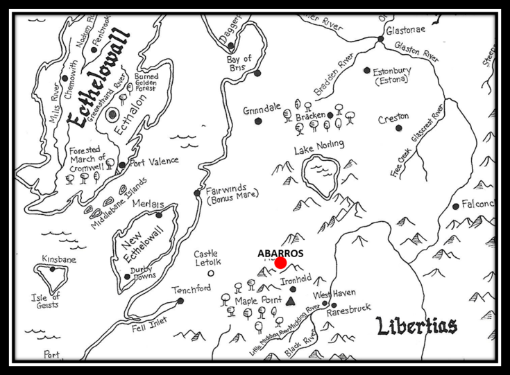 Map of Northwestern Lowlands in the Middle Era